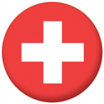 Switzerland Country Flag 58mm Button Badge